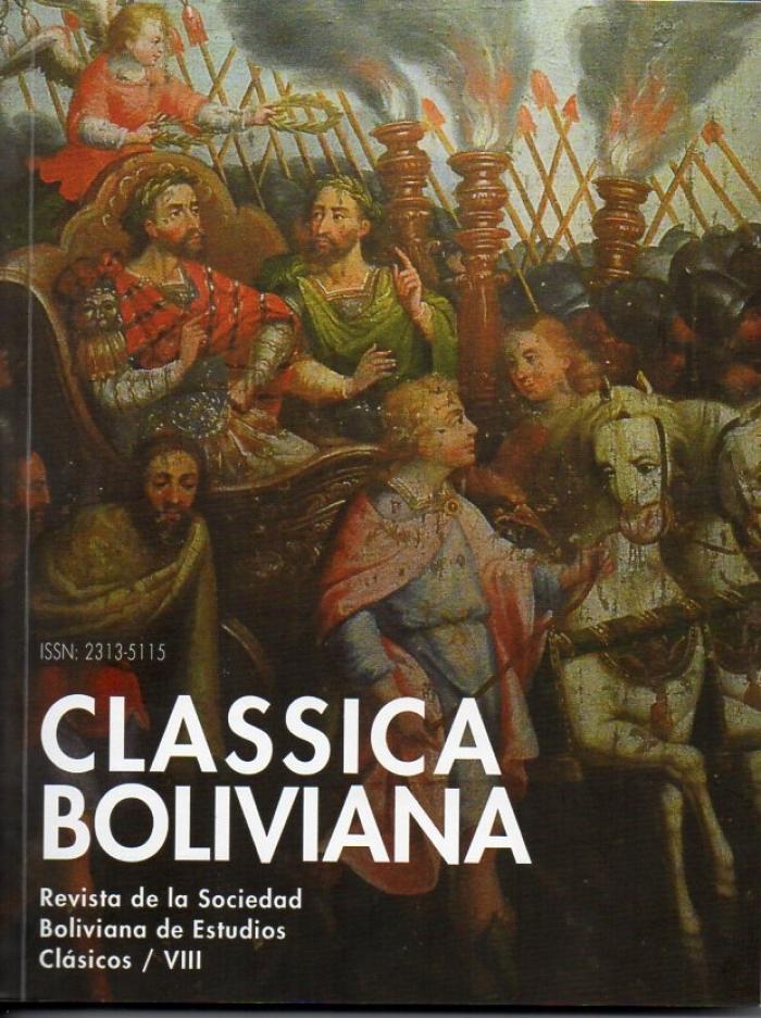 Presentación del último número de la Revista Classica Boliviana (Nro. VIII)